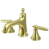 Heritage Widespread Bathroom Faucet with Double Georgian Lever Handles