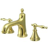Heritage Widespread Bathroom Faucet with Double Naples Lever Handles