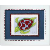 Sea Life Sea Turtle Framed Giclee Wall Art