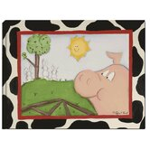 Pig and Bunnies Stretched Giclee Canvas