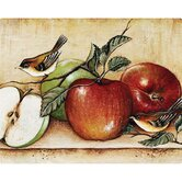 12&quot; x 15&quot; Apples and Warblers Design Cutting Board