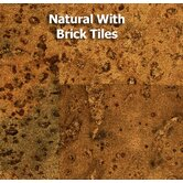 3' x 1' Cork Tile in Natural with Brick Tiles