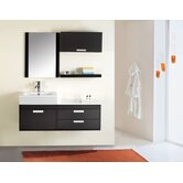 "Alica Single 51"" Bathroom Vanity Set in Espresso"