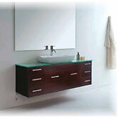 "Biagio 56"" Bathroom Vanity Set in Espresso"