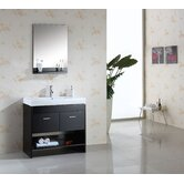 "Gloria Single 36"" Bathroom Vanity Set in Espresso"