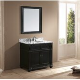 "Naomi 38"" Single Sink Bathroom Vanity in Black"