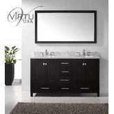 "Caroline Avenue Double Sink 60"" Bathroom Vanity"