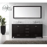 "Caroline Avenue Double Sink 72"" Bathroom Vanity"