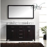 "Caroline Double Sink 60"" Bathroom Vanity"