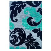 Corfu Floral Grey/Turquoise Kids Rug