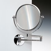 "18.9"" Extendable Double Face Wall Mounted 5X Magnifying Mirror with Optical Grade"