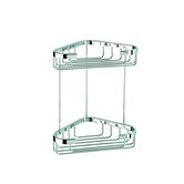 Basket Double Medium Corner Shower Basket in Chrome
