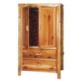 Traditional Cedar Log Armoire