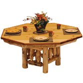 Traditional Cedar Log Dining Table Cover for Poker Table