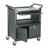 Commercial Utility Cart with Locking Doors