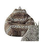 Jumbo Animal Print Bean Bag Lounger