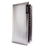 Hybrid Checkbook Wallet in Silver