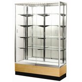 "Streamline 60"" x 18"" Trophy Case with Glass Back"