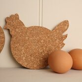 Cork Chicken Coaster (Set of 4)