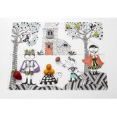 Hide and Seek Placemat in Black