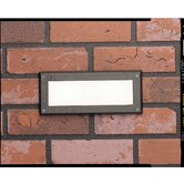 Architectural Bronze Outdoor Recessed Brick Light with Glass