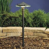 Textured Architectural Bronze Glass and Metal Landscape Path Light