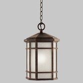 Cameron Outdoor Hanging Lantern in Prairie Rock