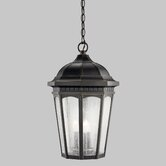 Courtyard Outdoor Hanging Lantern in Rubbed Bronze