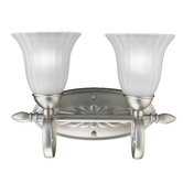 Willowmore  Vanity Light in Brushed Nickel