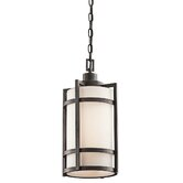 Camden  Outdoor Hanging Lantern in Anvil Iron