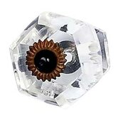 Curved Hexagon Knob in Clear