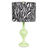 Curvature Large Table Lamp in Modern Green