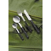 Mono-E Flatware with Short Blade Table Knife Set by Peter Raacke