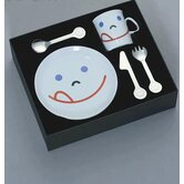 Mono Kids Flatware with Smile Child's (Set of 5) by Peter Raacke
