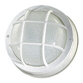 8&quot;  Round Bulkhead in White