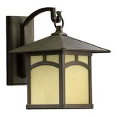Sorrel Outdoor Wall Lantern with Amber Scavo Glass Shade in Oiled Bronze