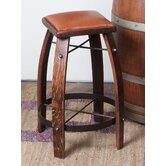 28 - 32&quot; Leather  Stave Stool