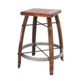 24-32&quot; Stave Stool with Wood Top