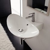Zefiro 50/R Wall Mounted or Above Counter Bathroom Sink in White