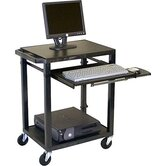 Tuffy Plastic Computer Workstation with Keyboard Pullout Tray