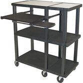 Tuffy Open Shelf  Presentation Station with Black Legs