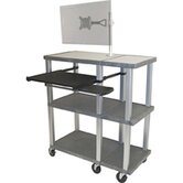 Tuffy Open Shelf Presentation Station with Monitor Mount