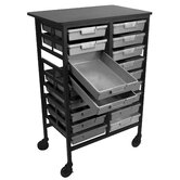 Mobile Work Center with Storage Trays