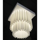 Skirt - Single Fabric 1 Light Ceiling Light
