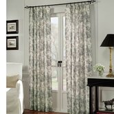 Black Toile Cotton Curtain Panel (Set of 2)