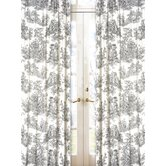 Black Toile Collection Window Panels