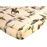 Wild West Cowboy Collection Fitted Crib Sheet  - Cowboy Print