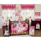 Butterfly Pink Orange Crib Bedding Collection
