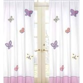 Butterfly Pink Purple Window Panels (Set of 2)