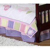 Butterfly Pink Purple Toddler Bed Skirt